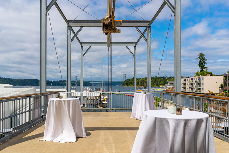 Private events venue, facility, on the waterfront University Place, Tacoma, WA